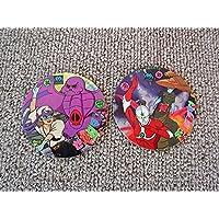 古い駄玩具メンコ二枚ザウルトラマン怪獣ゼンダマン漫画アニメーションキャラ円谷プロCタツノコプロです。