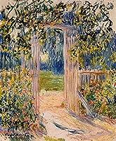 手描き-キャンバスの油絵 - The ガーデン Gate クロード・モネ 芸術 作品 洋画 ウォールアートデコレーション FCM3 -サイズ06