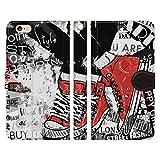 コンバース ヴァルバロッサ [iPhone6/6s専用 手帳型 スマホケース カバー] ヴィンテージ コラージュ:E スタンド機能 ストラップホール付 PUレザー