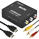 L'QECTED HDMI to RCA 変換コンバーター HDMI to AV コンポジット変換 hdmi からrca 1080P 音声出力可 HDMIからアナログに変換アダプタ PS3 PS4 Xbox カーナビなど対応 USB/HDMI/RCA