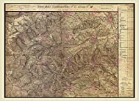 地図オーストリアハンガリー軍用1872 KLOSTERNEUBURGレプリカポスター印刷PAM0539