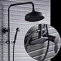 衛生Bath部屋壁ホーム、BlackBerryハンドヘルドシャワーをすべてのレトロブロンズシャワーシャワーヘッドの設定スプレー、ガラス器具水の圧力を,製品ボリューム: 70 cm 13 cm 35 cm