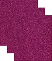 (Hot Pink) - 50cm x 30cm Siser GLITTER Heat Transfer Vinyl Sheets (50cm x 1 Sheet) (Hot Pink)