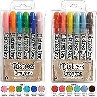 Ranger Tim Holtz 12 Distress Crayons Sets #6#7 (TDBK51763+TDBK51770) [並行輸入品]