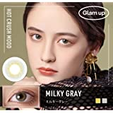 Glam up グラムアップ カラコン Milky gray ミルキーグレー 1day 10枚入り 度あり 度なし (0.00)