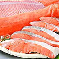 皮まで食べれる 天然 紅鮭切身 無添加 定塩 (400g 5切) 【当日15:00まで即納可 (土日祝 休まず 年中無休)】