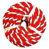 サトウ 紅白ロープ 紅白 長さ 約20m×太さ約10mm 日本製 1巻