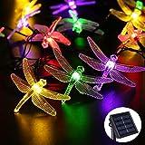リーダーテク(lederTEK) ソーラー 防雨防水型 カラー トンボ形 電飾 イルミネーション LED 4.8m 20球 8点滅モデル クリスマス ガーデン ライト 新年 飾り付け