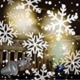 Snow Falling Animated Projector Outdoor Halloween Christmas Decorations LED Projection Lights with Remote Control