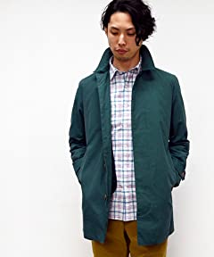 Balmacaan Coat 114-10-0003: Green