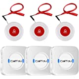 CallToU Wireless Caregiver Pager Smart Call System 3 SOS Call Buttons/Transmitters 3 Receivers Nurse Calling Alert Patient He