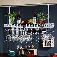 YD-Wine rack アイアンホワイト/ヤヘイ/ブロンズヨーロッパのクリエイティブハンギングガラスホルダーサイズ:60/80/100/X25X32cm # (色 : 白, サイズ さいず : 60 * 25 * 30cm)