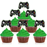 Mity rain Video Game Controllers Cupcake Toppers-Gamepad Cake Picks Game Themed Birthday Anniversary Wedding Engagement Party