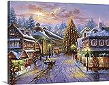 """Nicky Boehmeプレミアムシックラップキャンバス壁アート印刷題名クリスマスEve 40"""" x 30"""" 2153705_24_40x30_none"""