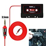 Tersely Car Tape Cassette to 3.5mm Jack Music AUX Audio Adapter Stereo Converter for iPhone iPod Android Smartphones MP3...