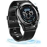 Fitness Tracker, SZMDLX Smartwatch Touch Activity Tracker Smart Bracelet, GPS Remote Control Camera Weather Forecast Heart Ra