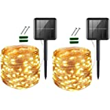 UPOOM [2 Pack] Solar Fairy Lights, 400 LED Outdoor Solar String Lights Garden Copper Wire Decorative Lights 72Ft Waterproof I