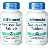 Life Extension Two-Per-Day 120 Tablets Pack of 2 by Life Extension