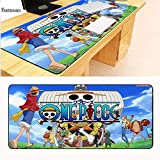 エコテンポ 900*400ミリメートル日本アニメワンピース大かがり漫画アニメゴムゲーミングマウスパッドキーボードマットテーブルマットとして男の子ギフト