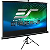 Elite Screens Tripod, 72-inch, Adjustable Multi Aspect Ratio Portable Pull Up Projection Projector Screen, T72UWH