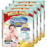 MamyPoko Extra Dry Pants, M, 60 Count, (Pack of 4)