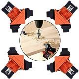 コーナー クランプ 木工定規 DIY 工具 直角 90度 木工ロケーター 多機能 木工ツール 4個セット ライトアングルクリップ コーナーリテーナー クランプ