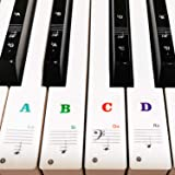 88/61/54/49/37 Key Keyboard Stickers, Removable Piano Sticker, Coated with Long Lasting Adhesive Material, Can be Pasted Repe