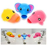 AUMA Set of 3 Cute Cartoon Faucet Extender, Bath Spout Cover for Toddler, Baby, Children Safe and Fun Washing Solution, Kids