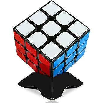 スピードキューブ 磁石内蔵の競技用 3×3 キューブ 世界基準配色 ステッカー 磁力 パズル スタンド付き 回転スムーズ 抜群の安定感 (磁石内蔵)