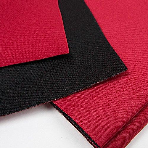 (キョウエツ) KYOETSU 日本製 半幅帯 袴下帯 浴衣帯 リバーシブル 無地 (赤×黒)
