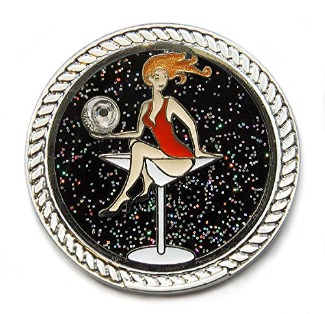 毎日リハーサル近所のNavika KICKS CANDY Golfaholic Glitzy Ball Marker with Round Shoe Ornament