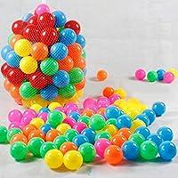 echony 200pcsカラフルボール5.5 CMオーシャンボールソフトプラスチック海洋ボールベビーキッドSwim Pit Toy