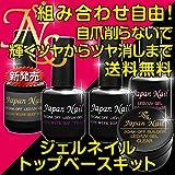 ジャパンネイル トップ・ベースコート クリアジェル ジェルネイルキットLED UV