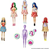 Barbie Color Reveal Doll with 7 Surprises: Water Reveals Doll's Look & Creates Color Change on Face & Sculpted Hair; 4 Myster