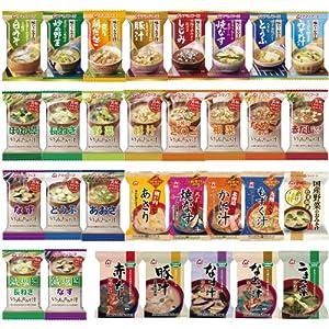 アマノフーズ フリーズドライみそ汁 31種類 1ヶ月 お楽しみ セット [フリーズドライ ねぎ 5g付]