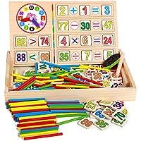 子供用 カウント玩具  数学教育 学習ボックス お絵かきボード 知育時計 算数パズル 子供算術おもちゃ 数字木のおもちゃ 黒板 知育玩具