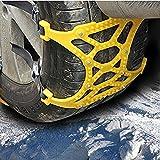 Chialstarタイヤチェーン 非金属 簡易版 緊急用 予備 キアップ不要 取り付け簡単 スノーソックス 車 雪道 プラスチック アイスバーン 凍結 スリップ スリップ 事故 悪路 195mm-265mmまでタイヤに対応 (6pcsセット)