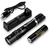 Sofirn SP31 v2.0 Tactical Flashlight Ultra Bright Cree XPL HI LED Max 1200 Lumens, Features 5 Modes and Hidden Strobe SOS wit