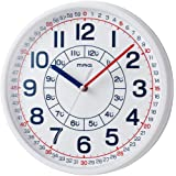 MAG(マグ) 掛け時計 知育 アナログ よーめる プラスチック風防 ホワイト W-736WH-Z