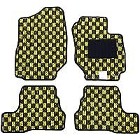 【フロアマット】 スズキ 新型 ジムニー ジムニーシエラ JB64W JB74W (マニュアル車専用) チェックシリーズ ブラック×イエロー (国内生産社外マット) JIMNY JIMNYSIERRA