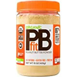 PBfit All-Natural Organic Peanut Butter Powder 15 Ounce, Peanut Butter Powder from Real Roasted Pressed Peanuts, Good Source