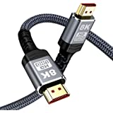 8K HDMI Cable 2M,Snowkids HDMI 2.1 Cable(8K 60Hz,4K 120Hz) 48Gbps Ultra HD High Speed HDMI to HDMI Cord Support 8K,4K,3D,HDR,