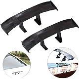 Creatiee Universal Car Mini Spoiler Wing, Auto Car Tail Wing   Mini Auto Carbon Fiber Texture Decoration   Without Perforatio