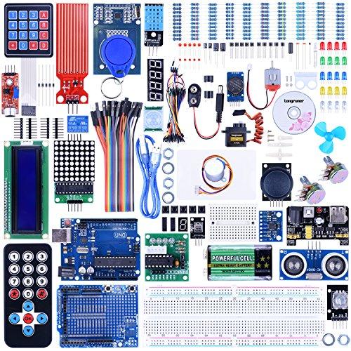 Longruner 69点セット Arduino適用 1602LCD+サーボ+ステッパーモーター+P...