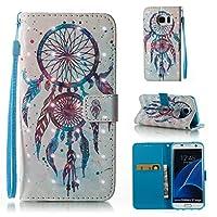 Lomogo Galaxy S7 Edge/docomo SC-02H / au SCV33 ケース 手帳型 耐衝撃 PU レザーケース 財布型 カードポケット スタンド機能 マグネット式 ギャラクシーS7エッジ 手帳型ケース カバー 人気 (パターン #7)