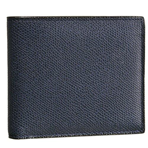 Valextra(ヴァレクストラ) 財布 メンズ グレインレザー 2つ折り財布 ネイビー V8L04-028-000U [並行輸入品]