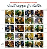 CLASSICAL COMPOSERS & CONDUCTORS #3165a Pane of 20 x 32!e US Postage Stamps by USPS [並行輸入品]