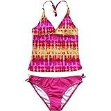 TiaoBug Two Pieces Girls Kids Swimsuit Swimwear Beachwear Bathing Suits