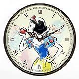 Disney 白雪姫 壁掛け時計 アナログ表示 可愛い ディズニー キャラクター が プリント された 掛け 時計 プレゼント や お部屋の インテリア にも使える 雑貨 クロック (白雪姫×Disneyミニミニタオルセット)