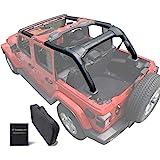 Shadeidea Jeep Wrangler Roll Bar Padding JL Unlimited 4 Door -Black Vinyl Foam Laminated Pad Cover Kit Protection for 2018 20